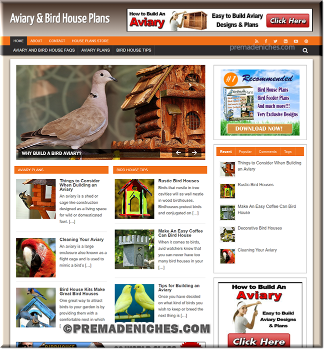 aviary house plr site