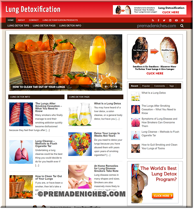 lung detox ready made site