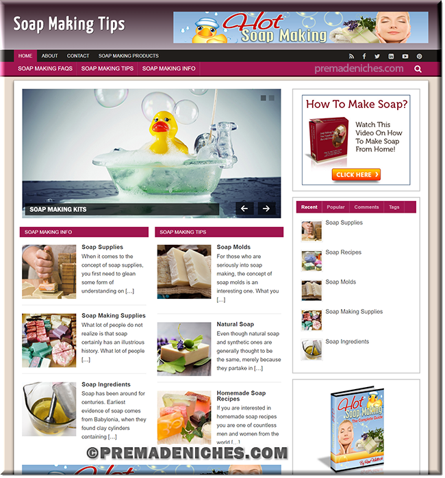 soap making PLR niche site