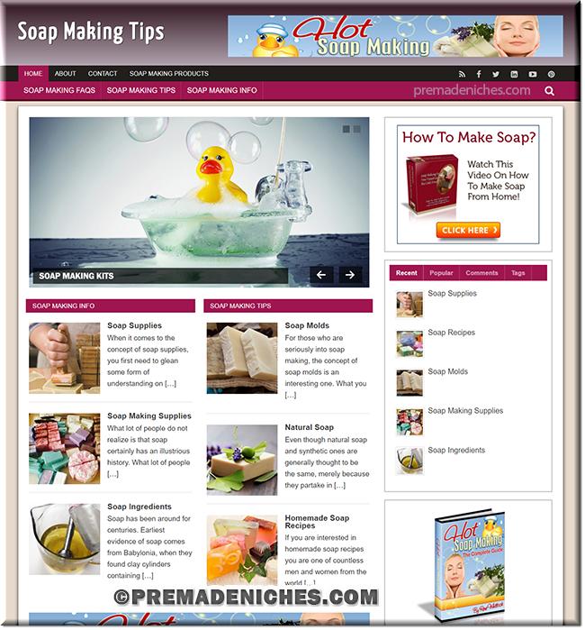 Soap Making Tips Niche Blog