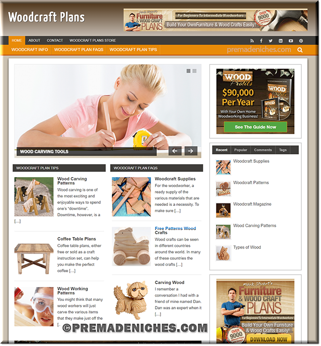 wood craft plans plr site