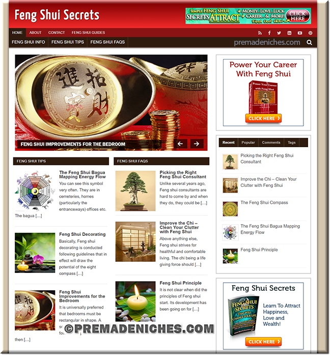 feng shui plr blog site