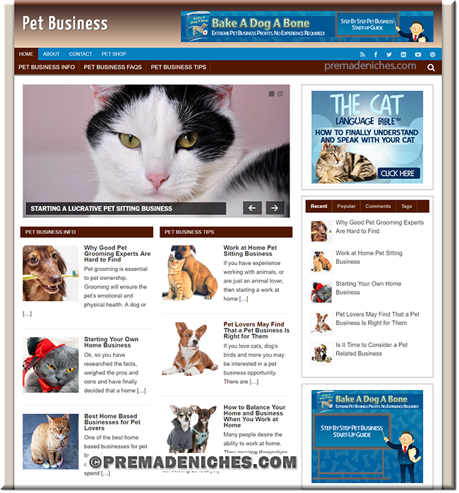 pet business plr website