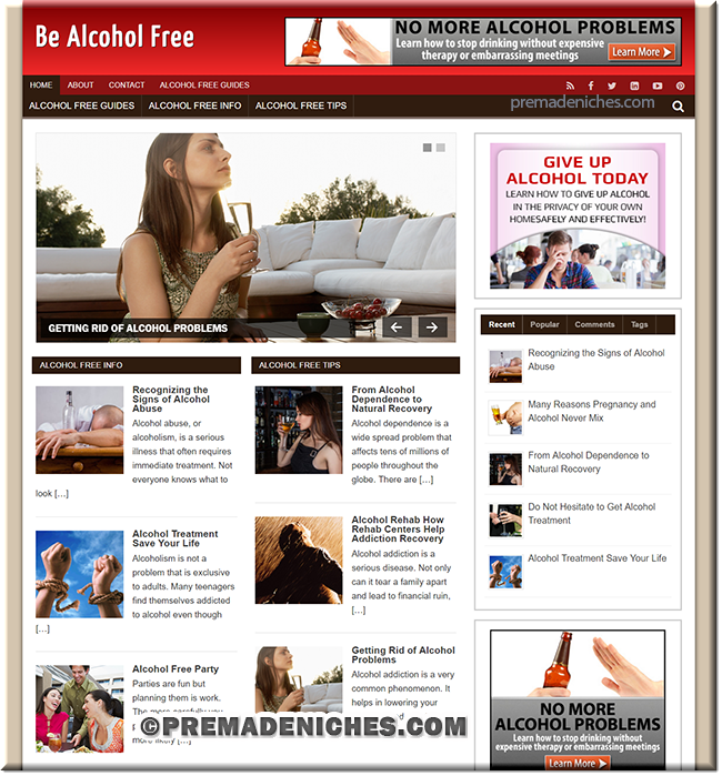 be alcohol free plr site