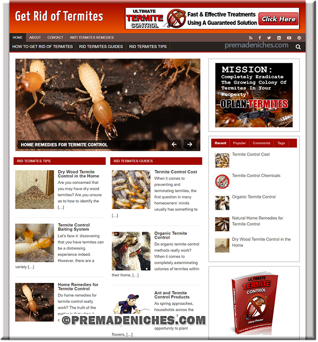 get rid of termites ready made site