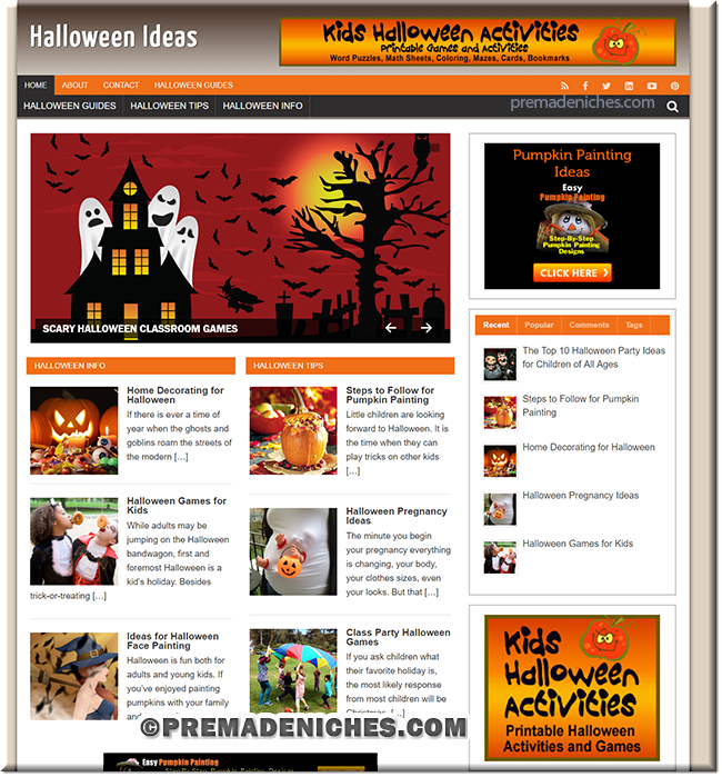 halloween ideas plr blog
