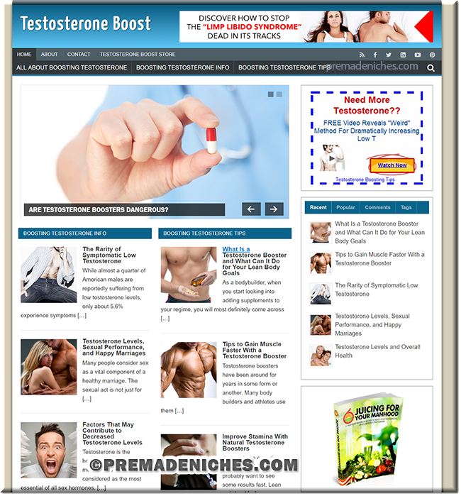 testosterone niche website