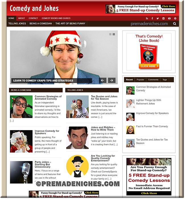 comedy jokes plr blog