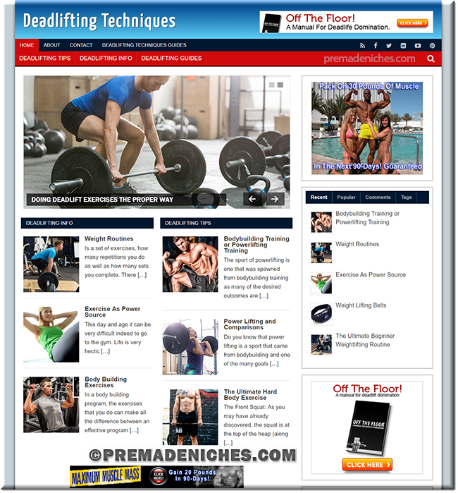 Adsense-ready Deadlifting Website with Resell Rights
