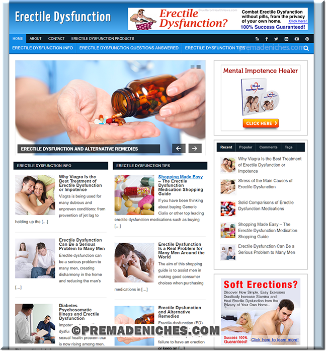erectile dysfunction niche blog