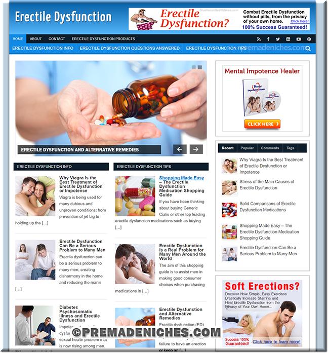 erectile dysfunction niche blog