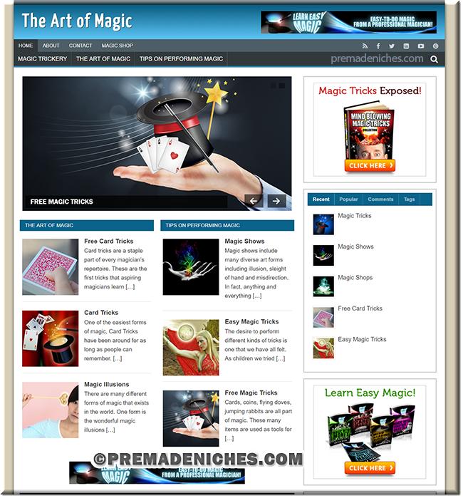Magic Arts Niche Blog with PLR License