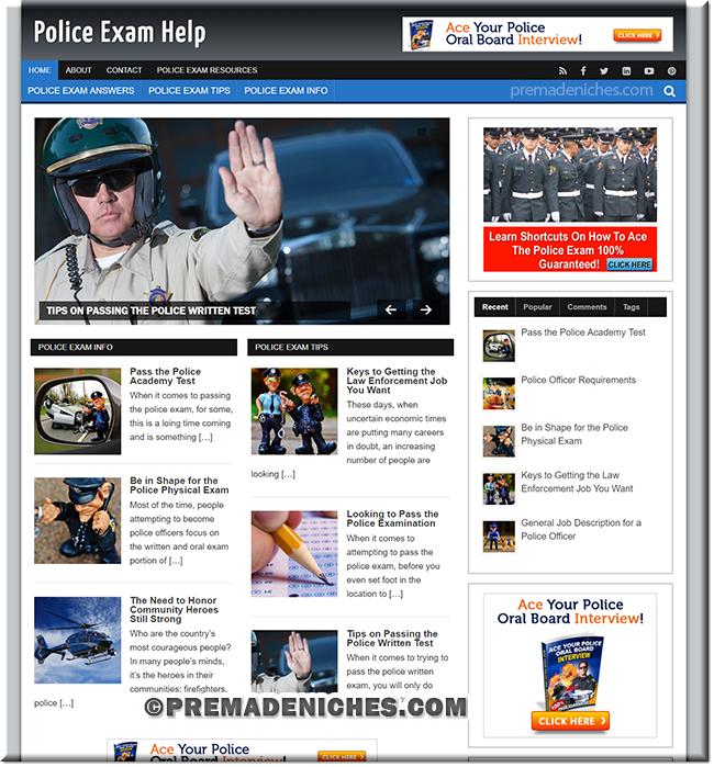 police exam niche blog