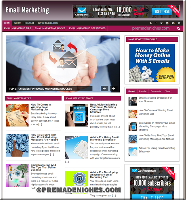Email Marketing Tips PLR Blog