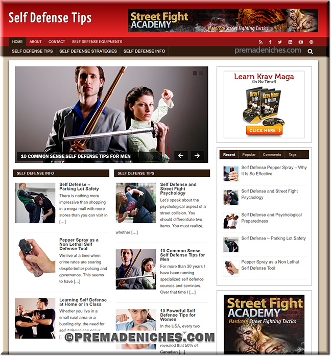 Ready Made Self Defense Turnkey Site with Resell Rights