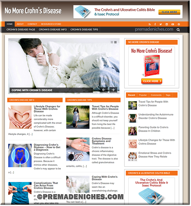 Crohn's Disease Ready Made Website