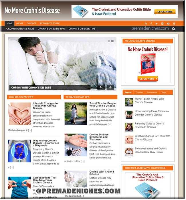 Crohn's Disease Ready Made Website