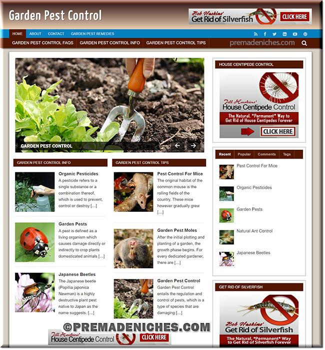 Garden Pest Control Ready Made Website