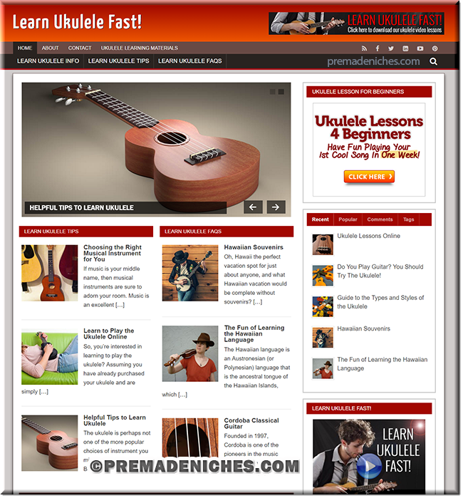 Learn Ukulele Ready Made Site