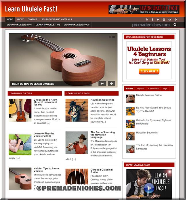 Learn Ukulele Ready Made Site