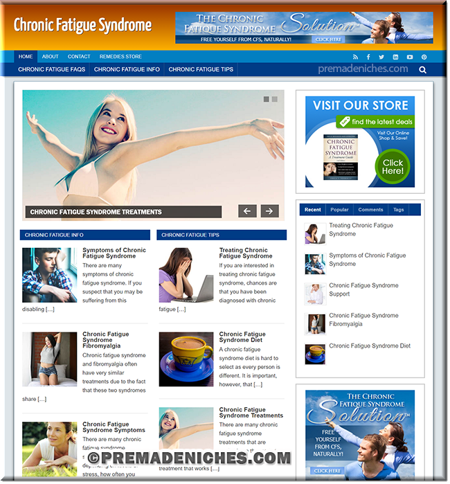 chronic fatigue niche plr site