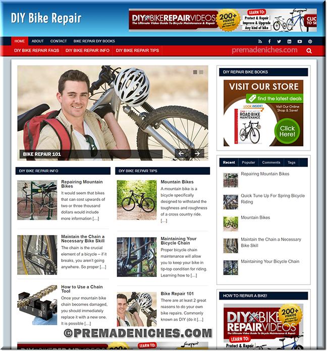 DIY Bike Repair Pre Made Blog with PLR License