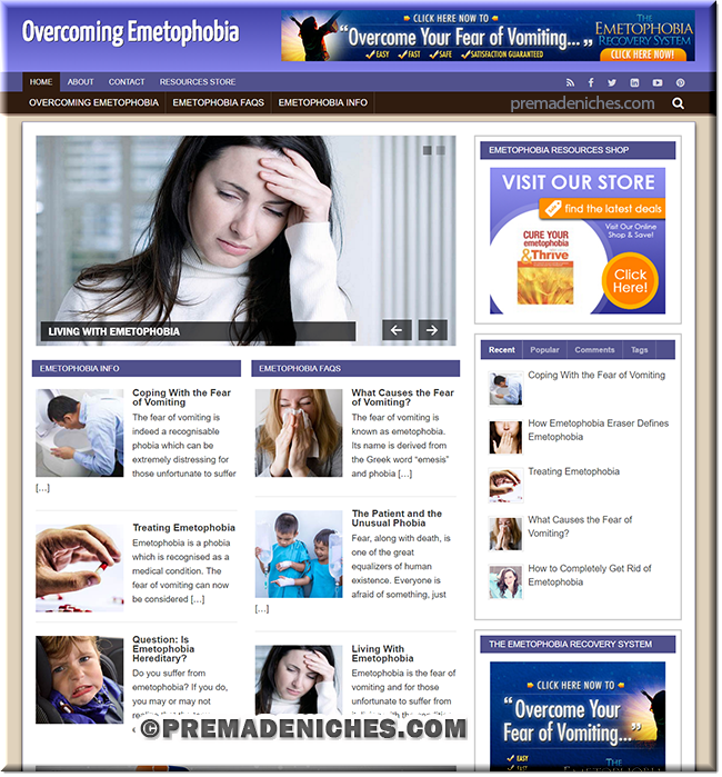 Emetophobia Ready Made Website with PLR License