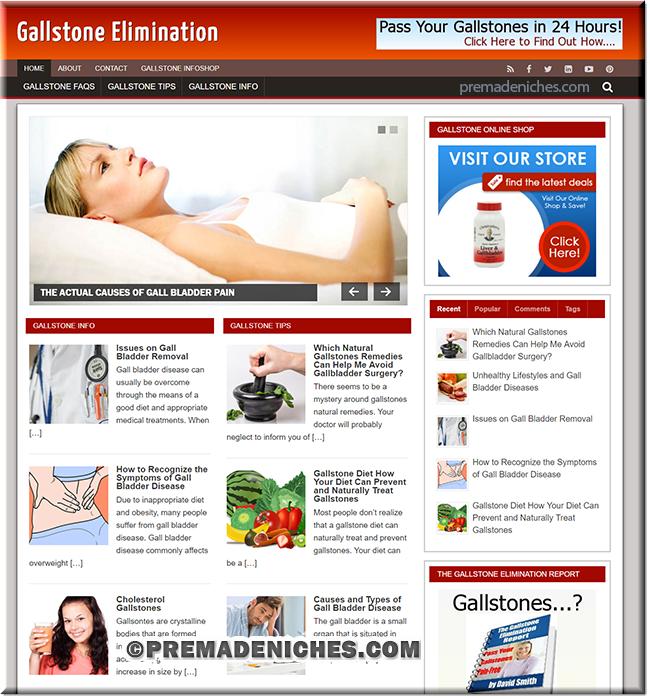 gallstone niche website