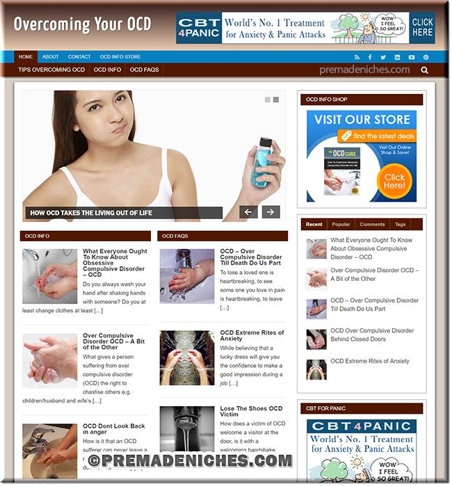 overcoming ocd niche website