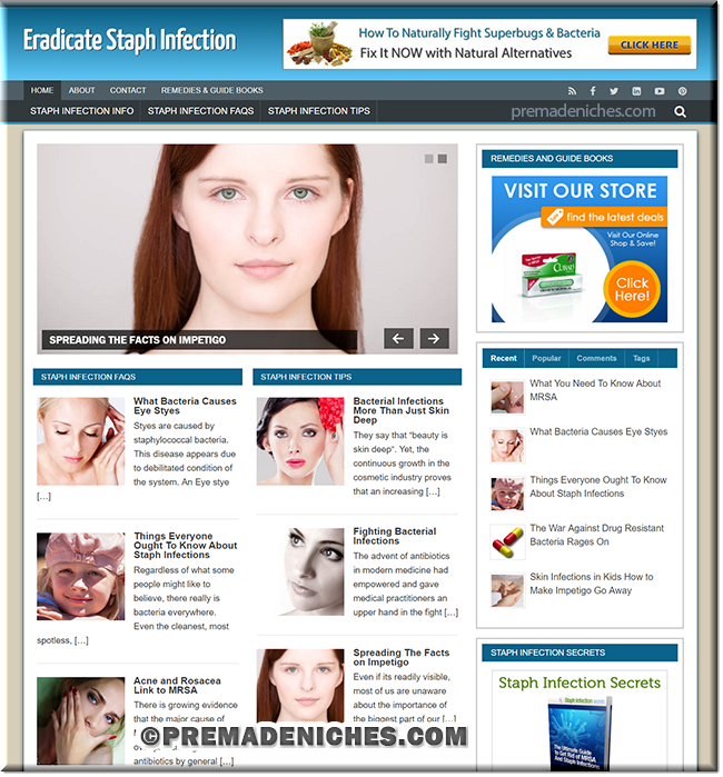 staph infection plr site