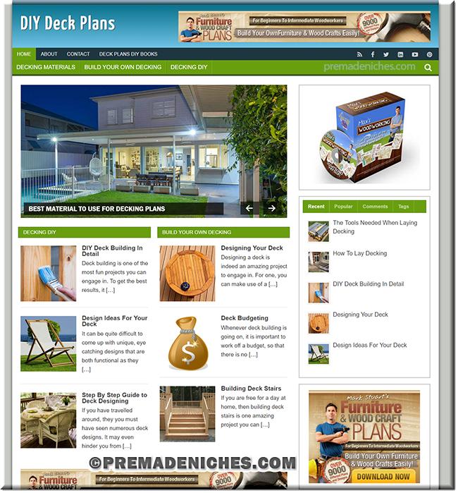DIY Deck Plans PLR Blog