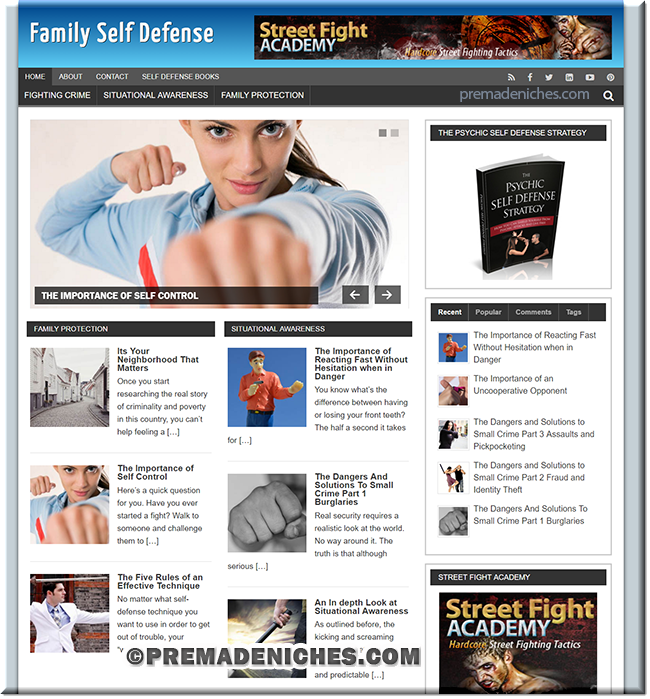 Family Self Defense PLR Site