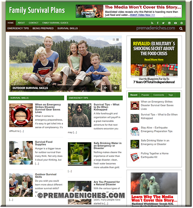 Family Survival PLR Site