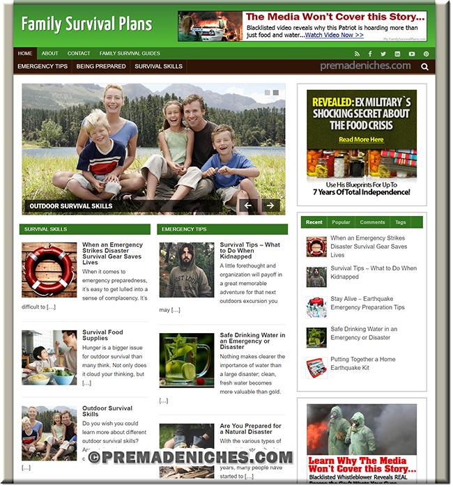 Family Survival PLR Site