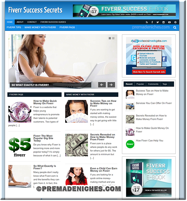 Fiverr Success PLR Blog