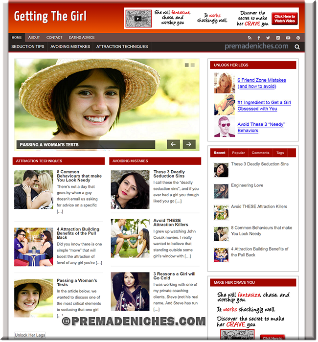 Getting the Girl - Premade Blog with PLR License