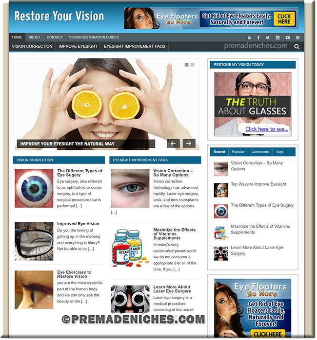 Restore Vision Niche Site