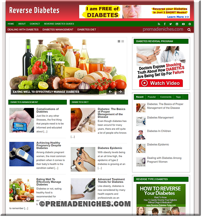 Reverse Diabetes PLR Blog