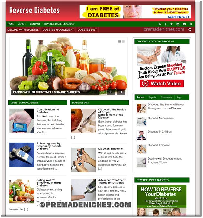 Reverse Diabetes PLR Blog