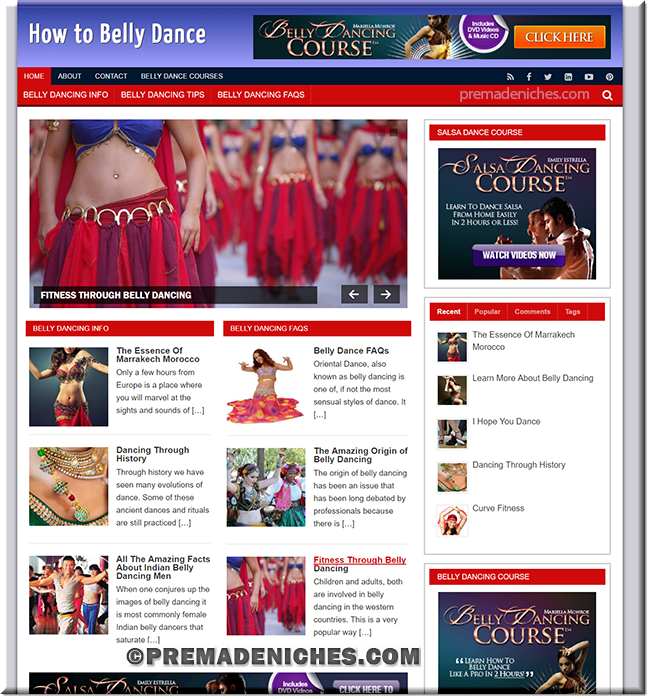 Belly Dance PLR Website