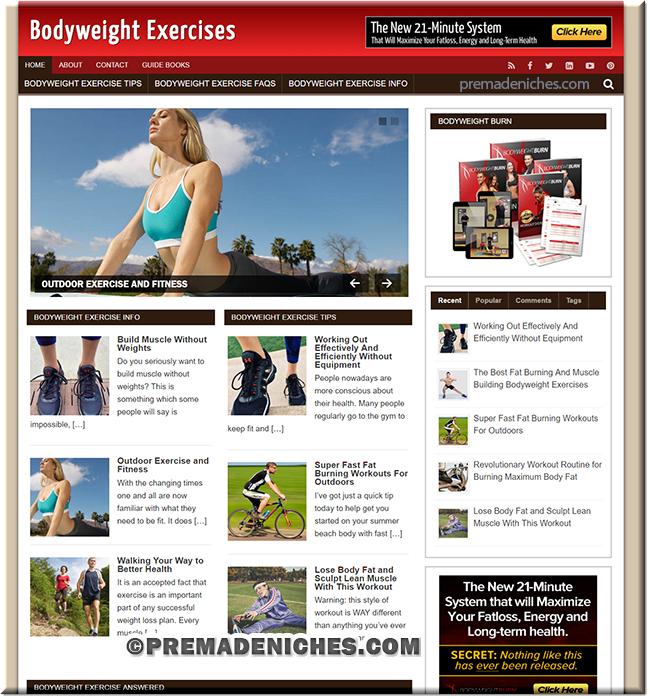 Bodyweight Exercises PLR Website