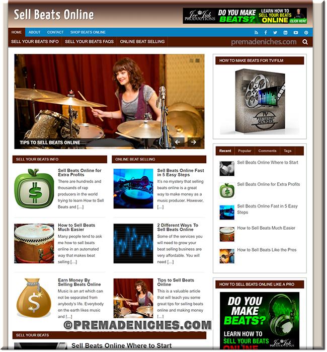Sells Beats Online PLR Niche Blog