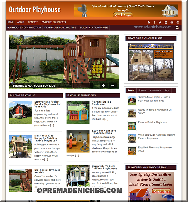 Build Playhouse PLR Niche Blog
