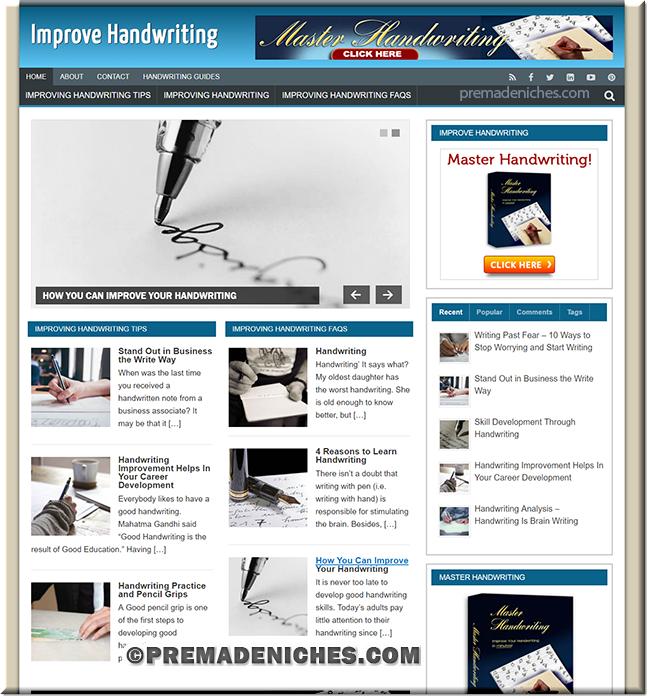 Improve Handwriting Ready Made Website