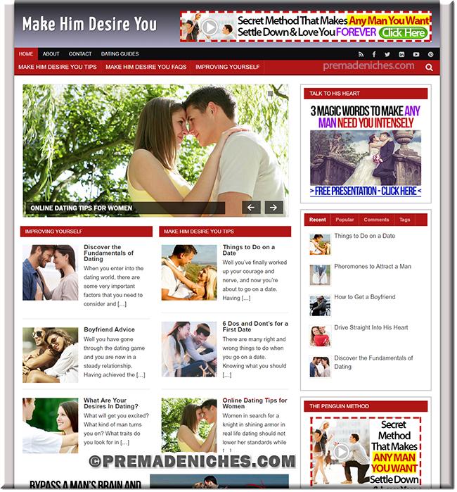 Make Him Desire You Starter Website with PLR