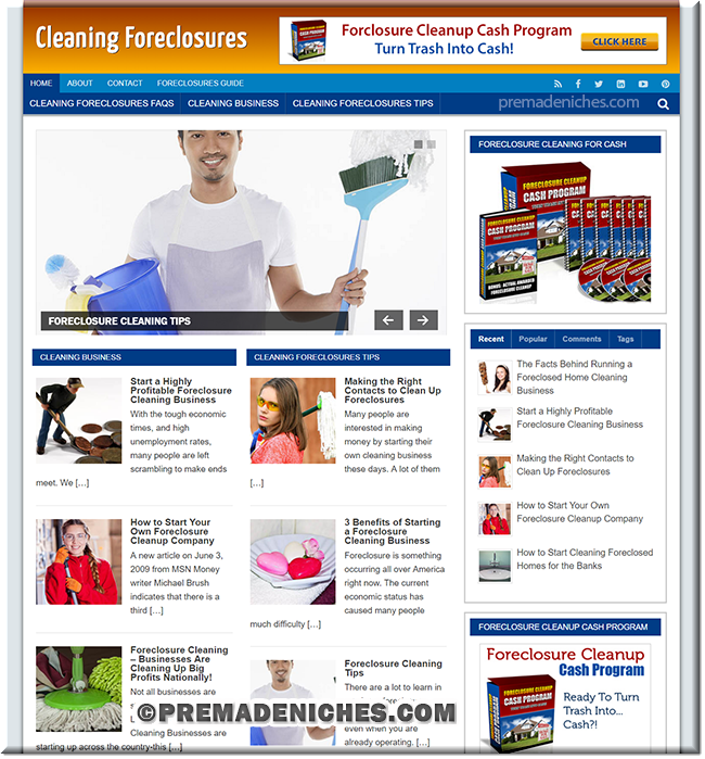 Cleaning Foreclosures Ready Made Site