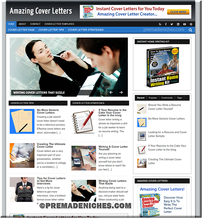 Cover Letters PLR Blog