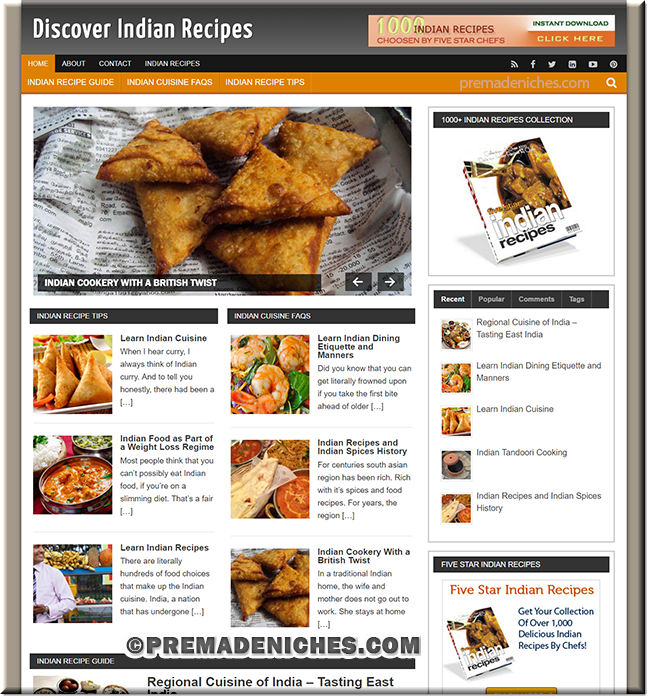 Indian Recipes PLR Site
