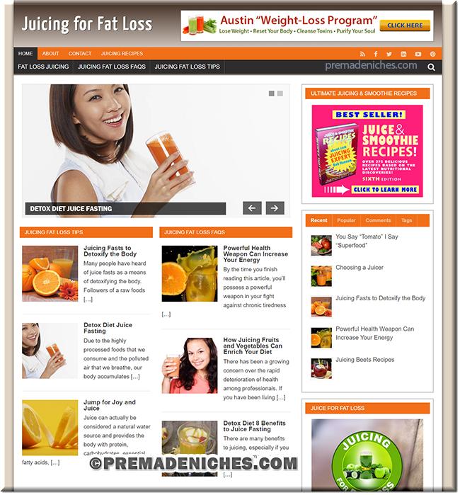 Juicing for Fat Loss PLR Website