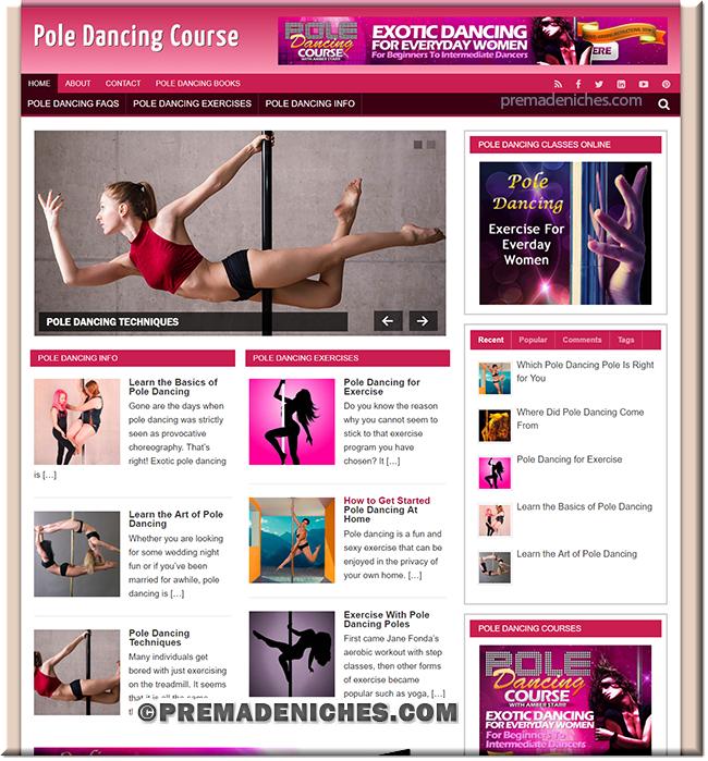 Pole Dancing PLR Site